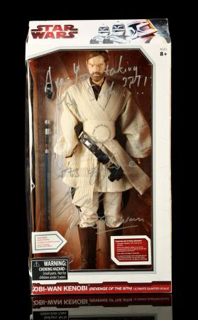 Lot # 126 - Ewan McGregor Autographed Jumbo Obi-Wan Kenobi (LFL Charity Auction)