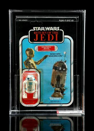 Lot # 258 - R2-D2 (with Sensorscope) ROTJ77A AFA 70Y [Kazanjian Collection]