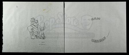 Lot # 161 - Hand-Drawn Paploo Coin Original Artwork (6:1 Scale)