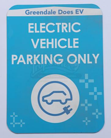 Lot # 24 - Various Episodes: Greendale EV Parking Only Sign