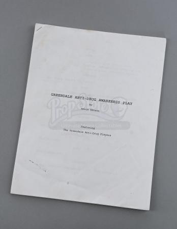"Lot # 34 - S2E13 - ""Celebrity Pharmacology"": Anti-Drug Awareness Script"