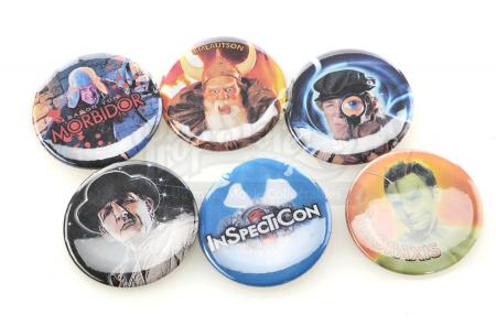 "Lot # 64 - S4E03 - ""Convention of Space and Time"": Six Inspector Spacetime InspectiCon Buttons"
