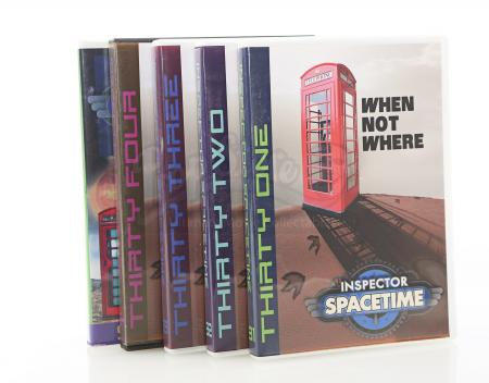 Lot # 90 - Various Episodes: Five Abed Nadir (as portrayed by Danny Pudi) Inspector Spacetime DVD Cases