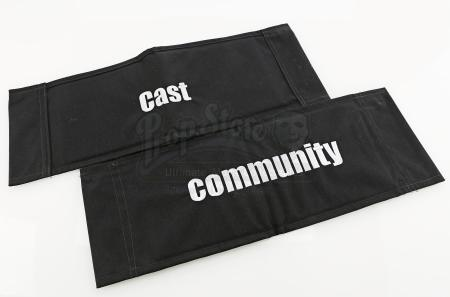 Lot # 116 - Various Episodes: Two Cast Chairbacks