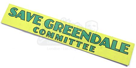 Lot # 136 - Various Episodes: Save Greendale Committee Sign