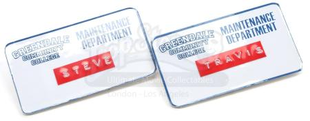 Lot # 139 - Various Episodes: Two Greendale Maintenance Department Badges
