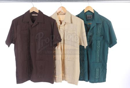 Lot # 140 - Various Episodes: Three Ben Chang (as portrayed by Ken Jeong) Button-Up Shirts