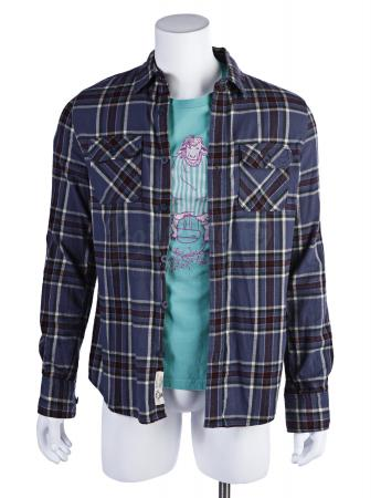 Lot # 152 - Various Episodes: Abed Nadir's (as portrayed by Danny Pudi) Blue Flannel and Shirt