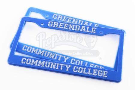 Lot # 173 - Various Episodes: Two Greendale Community College License Plate Frames