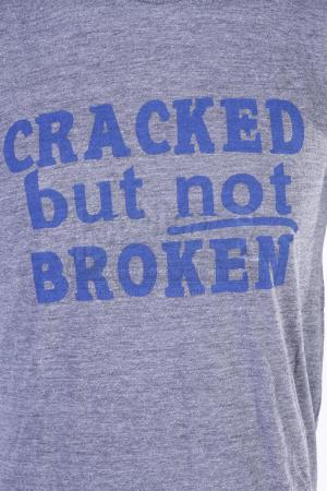"Lot # 175 - S5E03 - ""Basic Intergluteal Numismatical"": Two ""Cracked But Not Broken"" T-Shirts"