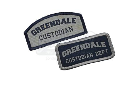 Lot # 185 - Various Episodes: Two Custodian Department Patches