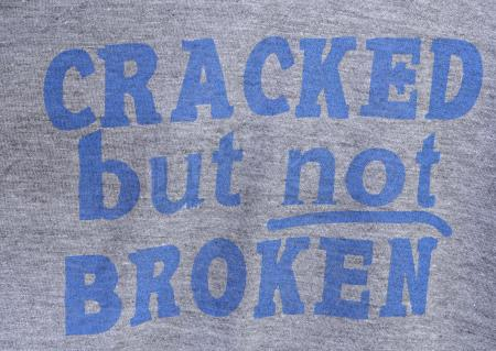 "Lot # 196 - S5E03 - ""Basic Intergluteal Numismatical"": Three ""Cracked But Not Broken"" T-Shirts"