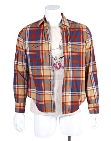 "Lot # 204 - S6E01 - ""Ladders"": Abed Nadir's (as portrayed by Danny Pudi) Ladders Flannel and Shirt"