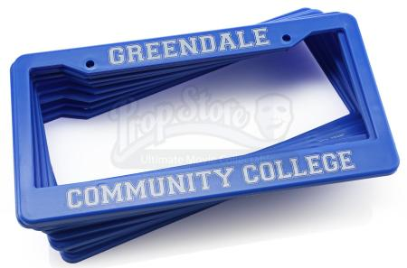 Lot # 211 - Various Episodes: 11 Greendale Community College License Plates