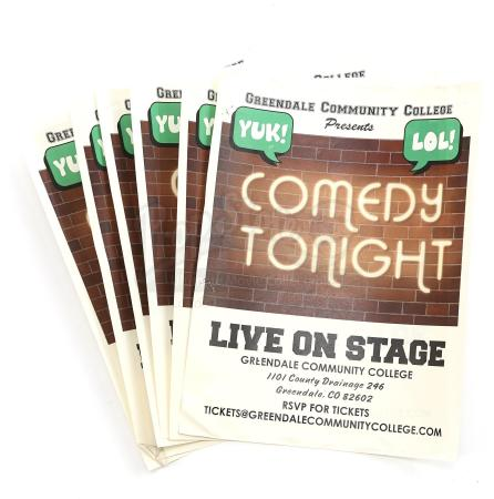 "Lot # 227 - S6E06 - ""Basic Email Security"": Six GCC Comedy Show Flyers"