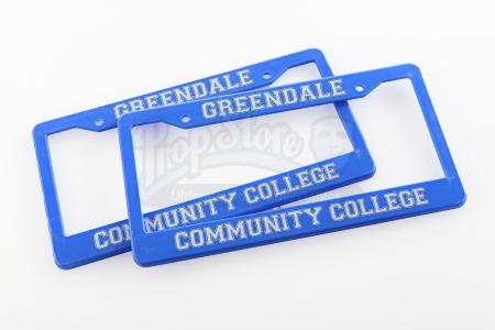 Lot # 231 - Various Episodes: Two Greendale Community College License Plate Frames