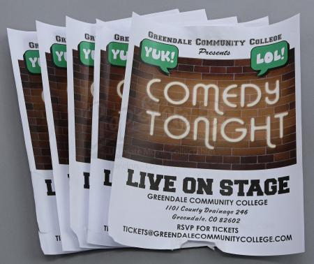 "Lot # 233 - S6E06 - ""Basic Email Security"": Five GCC Comedy Show Flyers"