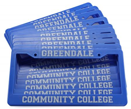 Lot # 242 - Various Episodes: 11 Greendale Community College License Plates