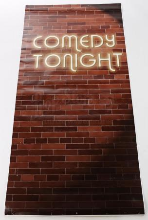 "Lot # 252 - S6E06 - ""Basic Email Security"": ""Comedy Tonight"" Brick Background Poster"