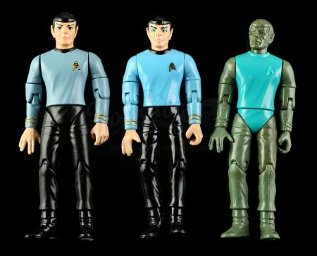 Lot # 548 - Hand-Painted Mr. Spock Hardcopy and Two First Shot Prototypes