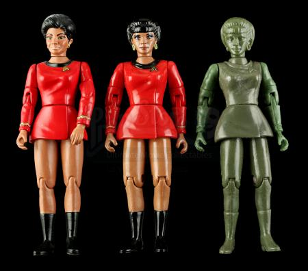 Lot # 549 - Hand-Painted Uhura Hardcopy and Two First Shot Prototypes