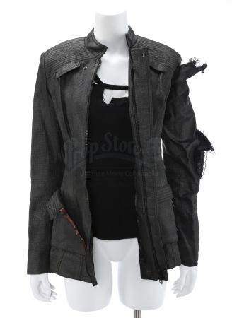 "Lot # 36 - Divergent (2014): Beatrice ""Tris"" Prior's Torn Assault Jacket and Tank Top"