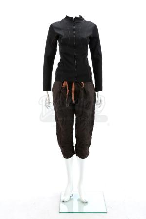 Lot # 38 - Divergent (2014): Christina's Rail Hanging Costume with Stunt Pants