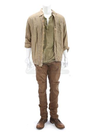 "Lot # 132 - The Divergent Series: Insurgent (2015): Tobias ""Four"" Eaton's Stunt Amity Refugee Camp Costume"
