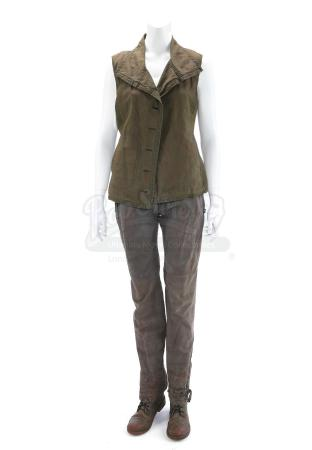 "Lot # 208 - The Divergent Series: Allegiant (2016): Beatrice ""Tris"" Prior's Rain-Stained Fringe Costume"
