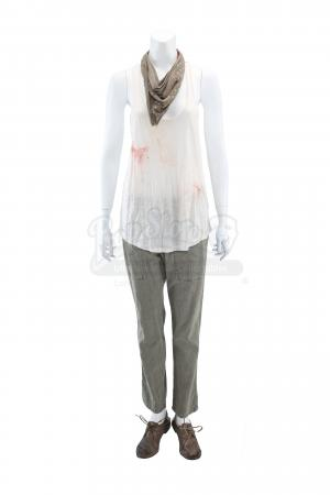 Lot # 23 - S1E03 98 Seconds: Katie Bowman's Blood-Stained Resistance Hijacking Truck Costume