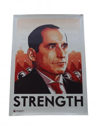 Lot # 42 - S1 Multiple Episodes: Oversized Alan Snyder Strength Poster