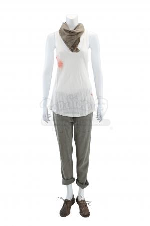 Lot # 53 - S1E03 98 Seconds: Katie Bowman's Blood-Stained Resistance Hijacking Truck Costume