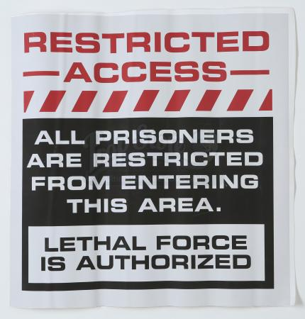 Lot # 103 - S2 Multiple Episodes: Prisoner Restricted Area Sign