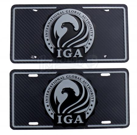 Lot # 110 - All Seasons : Two International Global Authority License Plates