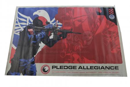 Lot # 118 - S2E03 Sublimation: Oversized Transitional Authority Pledge Allegiance Poster