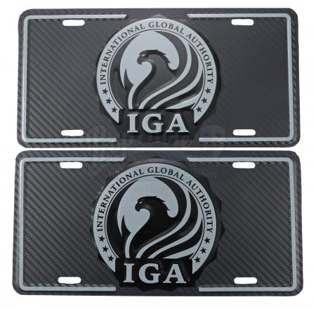 Lot # 151 - All Seasons : Two International Global Authority License Plates