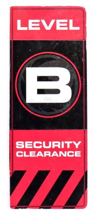 Lot # 164 - S2E05 Company Man: Level B Security Clearance Placard