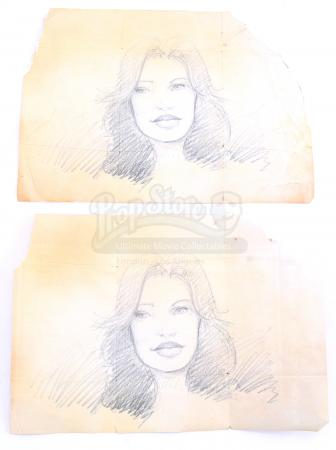 Lot # 180 - S2E11 Lost Boy: Two Bram Maya Drawings