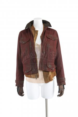 Lot # 234 - S3E02 Puzzle Man: Katie Bowman's Meeting the Resistance Coat, Jacket and Shirt