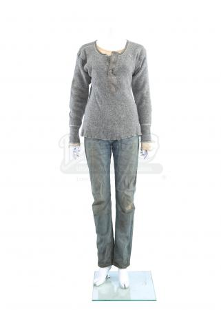Lot # 248 - S3E06 The Emerald City: Katie Bowman's Seattle Arrival Shirt, Sweater and Jeans