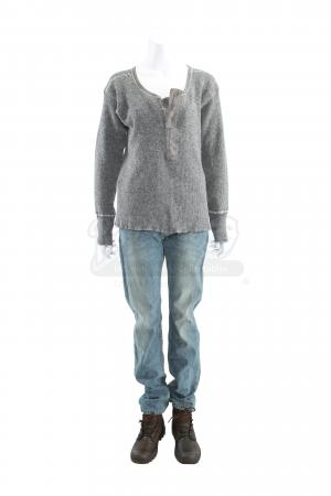 Lot # 256 - S3E05 End of the Road: Katie Bowman's Interrogation Sweater, Jeans and Boots