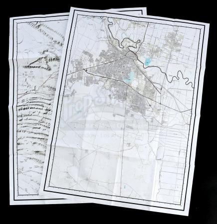 Lot # 18: Steve Forsing's (Jeffrey Donovan) Border Maps