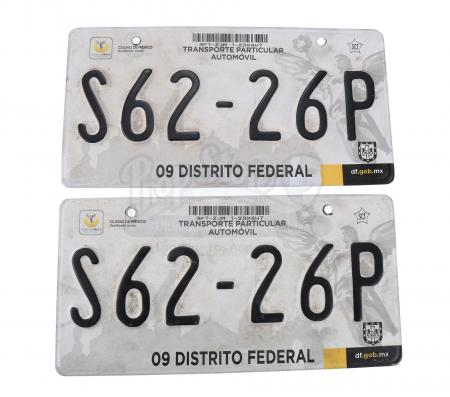 Lot # 24: Two Isabel (Isabela Moner) Kidnapping SUV License Plates