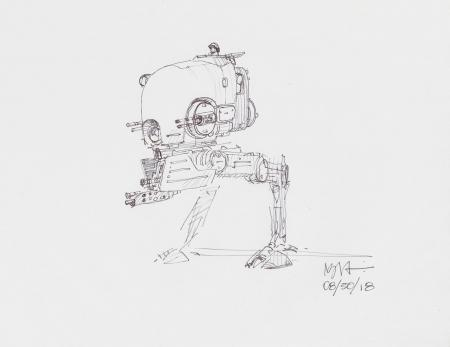 Lot # 2: Two-legged Walker Sketch - with Driver