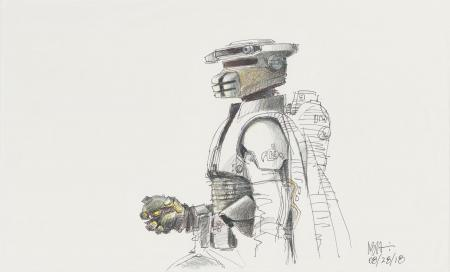 Lot # 5: Boushh Colored Sketch - with Thermal Detonator