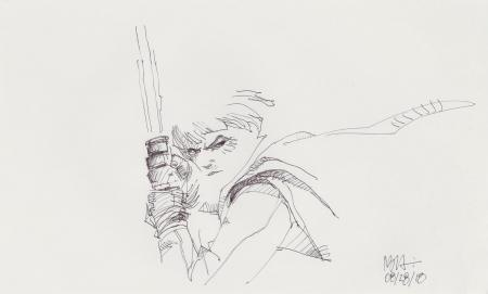 Lot # 18: Luke Skywalker Sketch - with Lightsaber