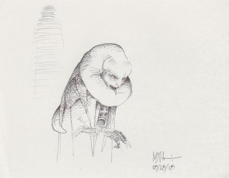 Lot # 21: Bib Fortuna Sketch