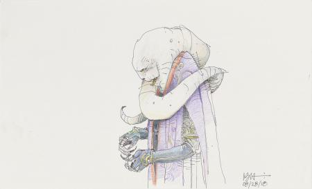 Lot # 30: Bib Fortuna Colored Sketch