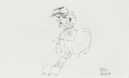 Lot # 31: Scout Trooper Loose Sketch
