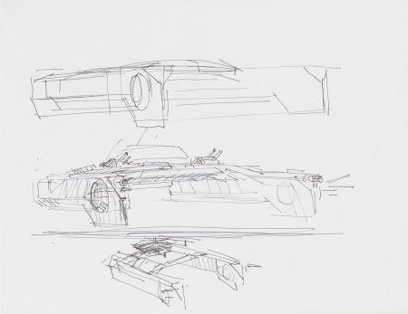 Lot # 33: Loose Hoth Tank Sketches